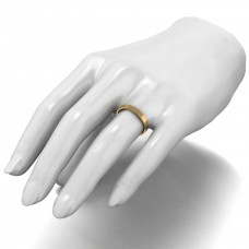 9ct Yellow Gold 3mm Light Weight Flat Court Wedding Band.