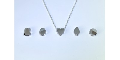 A Choice of Sliding Pendants with Chain