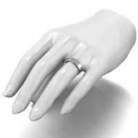 9ct White Gold 5mm Light Weight Flat Shape Wedding Band.