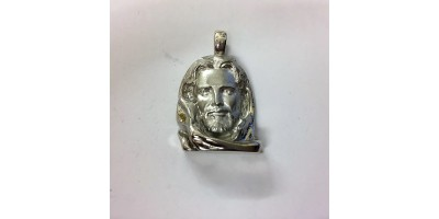 Sterling Silver Jesus Pendant.