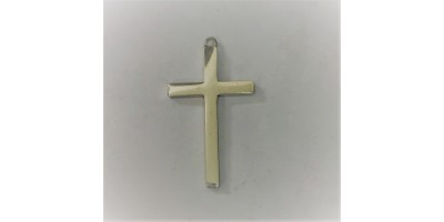 Solid Sterling Silver Cross Pendant.