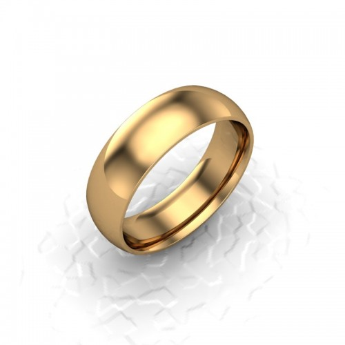 Mens Plain 18ct Yellow Gold Wedding Ring - 6mm Traditional Court - Price From £525