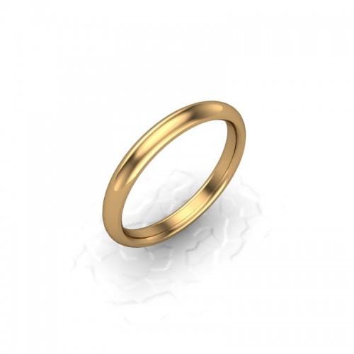 Ladies Plain 9ct Yellow Gold Wedding Ring - 2.5mm Traditional Court - Price From £140