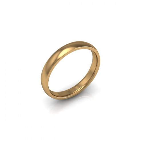 Ladies Plain 18ct Yellow Gold Wedding Ring - 3mm Traditional Court - Price From £275