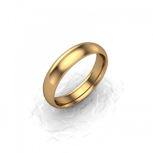 Ladies Plain 18ct Yellow Gold Wedding Ring - 4mm Traditional Court - Price From £340