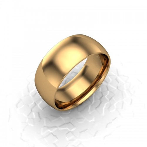 Mens Plain 18ct Yellow Gold Wedding Ring - 8mm Traditional Court - Price From £695