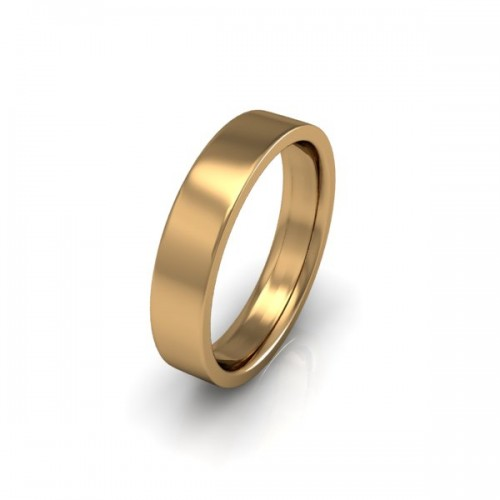 Ladies Plain 9ct Yellow Gold Wedding Ring - 4mm Flat Court - Price From £190