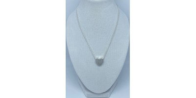 heart pendant with initial & chain