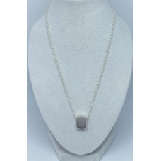 Silver Rectangle Shaped Slider Pendant