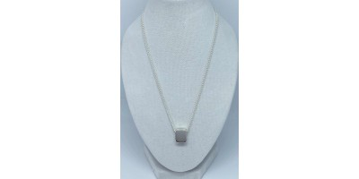 rectangle  pendant with chain