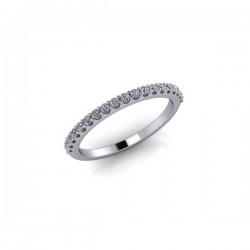 18ct White Gold 0.20ct Diamond Claw Set Wedding Ring