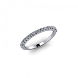 9ct White Gold 0.20ct Diamond Claw Set Wedding Ring