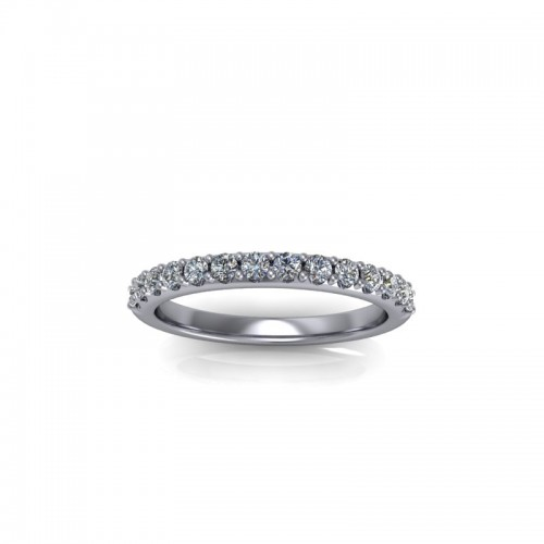 9ct White Gold 0.25ct Diamond Claw Set Wedding Ring