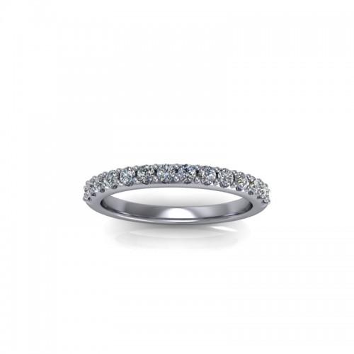 18ct Yellow Gold 0.25ct Diamond Claw Set Wedding Ring