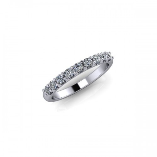 Platinum 0.33ct Diamond Claw Set Wedding Ring