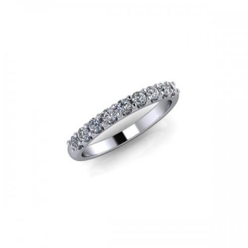 9ct White Gold 0.33ct Diamond Claw Set Wedding Ring