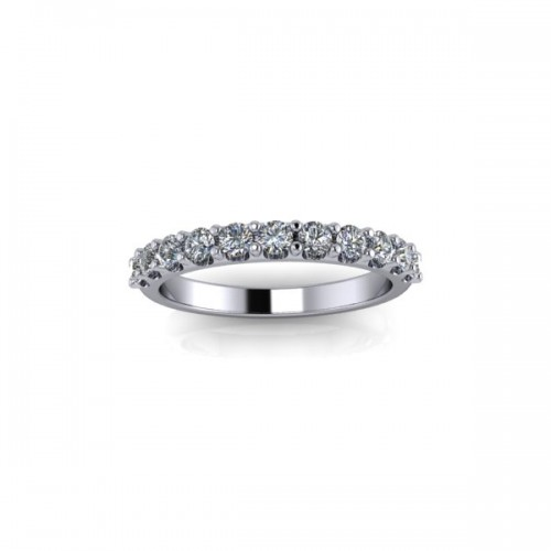 18ct White Gold 0.50ct Diamond Claw Set Wedding Ring