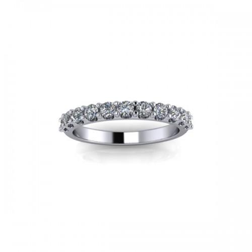 9ct Yellow Gold 0.50ct Diamond Claw Set Wedding Ring
