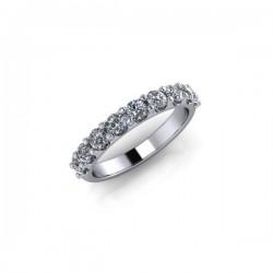 9ct White Gold 0.75ct Diamond Claw Set Wedding Ring
