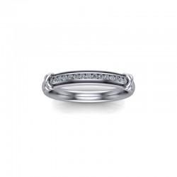 Platinum 0.10ct Diamond Channel Set Wedding Ring