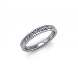 18ct White Gold 0.25ct Diamond Channel Set Wedding Ring