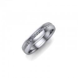 18ct White Gold 0.20ct Diamond Channel Set Wedding Ring