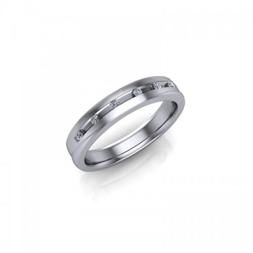 18ct White Gold Diamond Channel Set Wedding Ring