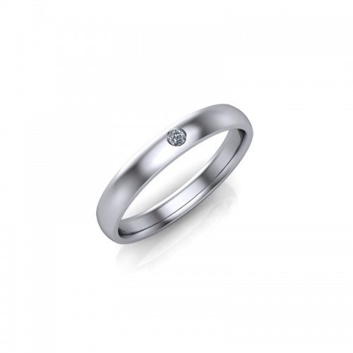 18ct White Gold Diamond Set Wedding Ring