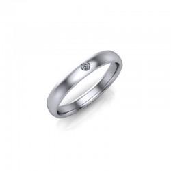 9ct White Gold Diamond Set Wedding Ring