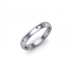 18ct Yellow Gold 0.10ct Diamond Set Wedding Ring