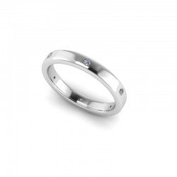 18ct White Gold 0.10ct Diamond Set Wedding Ring