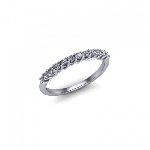 18ct White Gold 0.25ct Diamond Claw Set Wedding Ring
