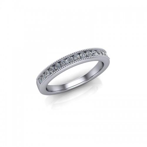 9ct Yellow Gold 0.20ct Diamond Channel Set Wedding Ring