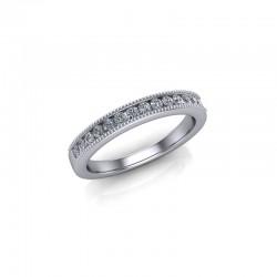 Platinum 0.20ct Diamond Channel Set Wedding Ring