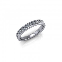 9ct Yellow Gold 0.33ct Diamond Channel Set Wedding Ring