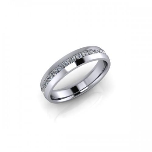 18ct Yellow Gold 0.25ct Diamond Channel Set Wedding Ring