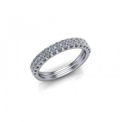 9ct White Gold 0.50ct Diamond Claw Set Wedding Ring