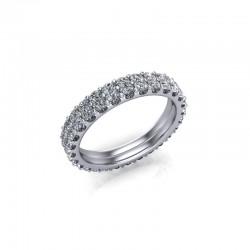 9ct White Gold 1.50ct Diamond Claw Set Wedding Ring