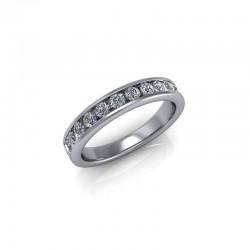 9ct White Gold 0.50ct Diamond Channel Set Wedding Ring