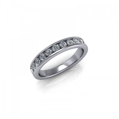 Platinum 0.50ct Diamond Channel Set Wedding Ring
