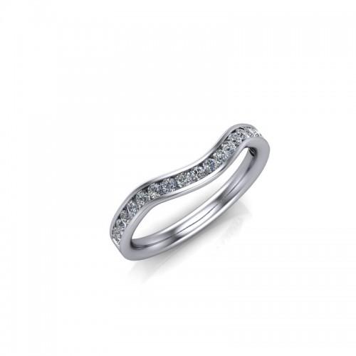 9ct Yellow Gold 0.25ct Diamond Channel Set Wedding Ring