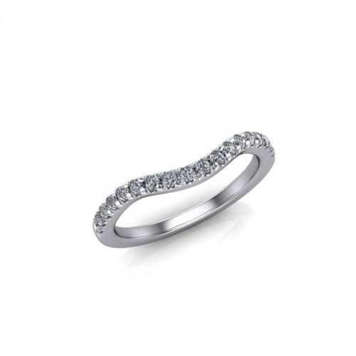18ct White Gold 0.25ct Diamond Claw Set Wedding Ring