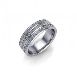 9ct White Gold 1.50ct Diamond Channel Set Wedding Ring