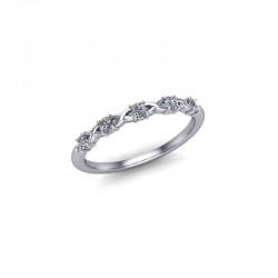 Platinum 0.15ct Diamond Claw Set Wedding Ring