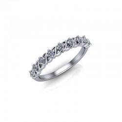 9ct Yellow Gold 0.25ct Diamond Claw Set Wedding Ring