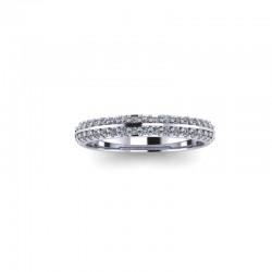 9ct Yellow Gold 0.25ct Diamond Pave Set Wedding Ring