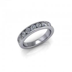 9ct White Gold 0.75ct Diamond Channel Set Wedding Ring
