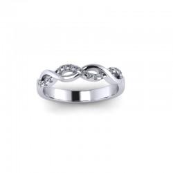 9ct Yellow Gold 0.10ct Diamond Claw Set Wedding Ring