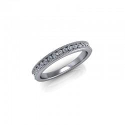 9ct White Gold 0.25ct Diamond Channel Set Wedding Ring