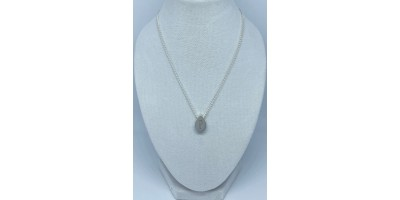 teardrop pendant with initial & chain